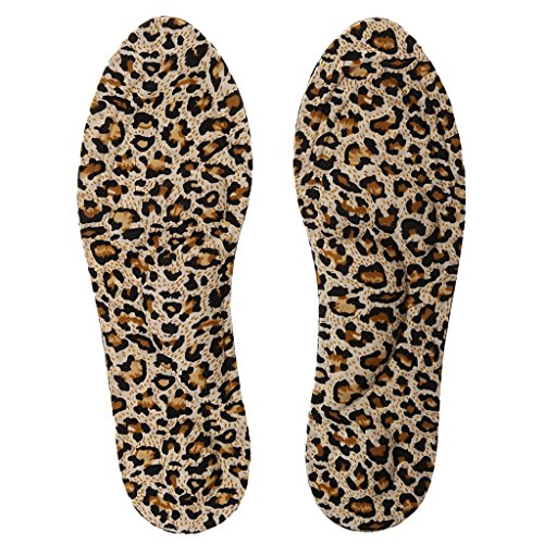 MagiDeal 3D Sponge Pain Fatigue Relief Arch Support Massage Insoles Pads Shoe Inserts Cushion - Leopard (Print Insole)