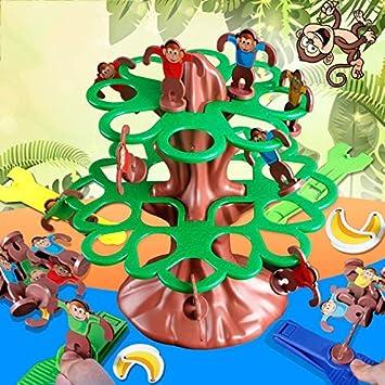XuBa Divertido Juego de Mesa de Monos Saltando Catpult los Monos en el árbol Primero y Ganar la educación interactiva Desarrollo Juguetes para niños #E: Amazon.es: Hogar