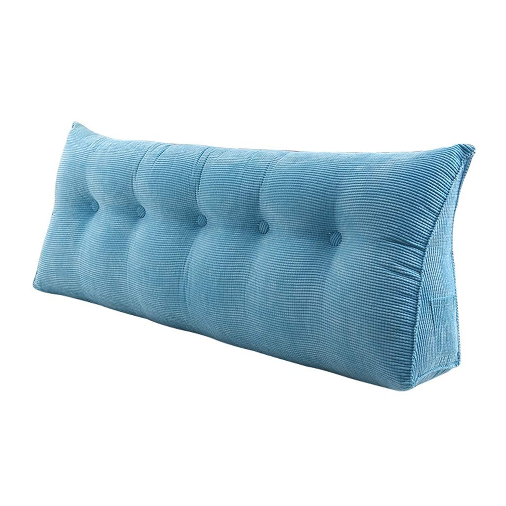 ZHWNGXO Cushion bedless Velvet Bed Back Pillow Pillow Thickening Waist Detachable 3 Color Solid Color 7 Sizes (Color : Blue, Size : 100×25×50cm) by ZHWNGXOlian