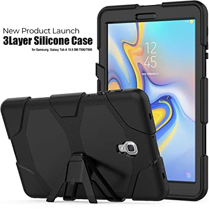 Foldable Case For Samsung Galaxy Tab A 10.5 T595 T590 Tablet 3-Layer Protection