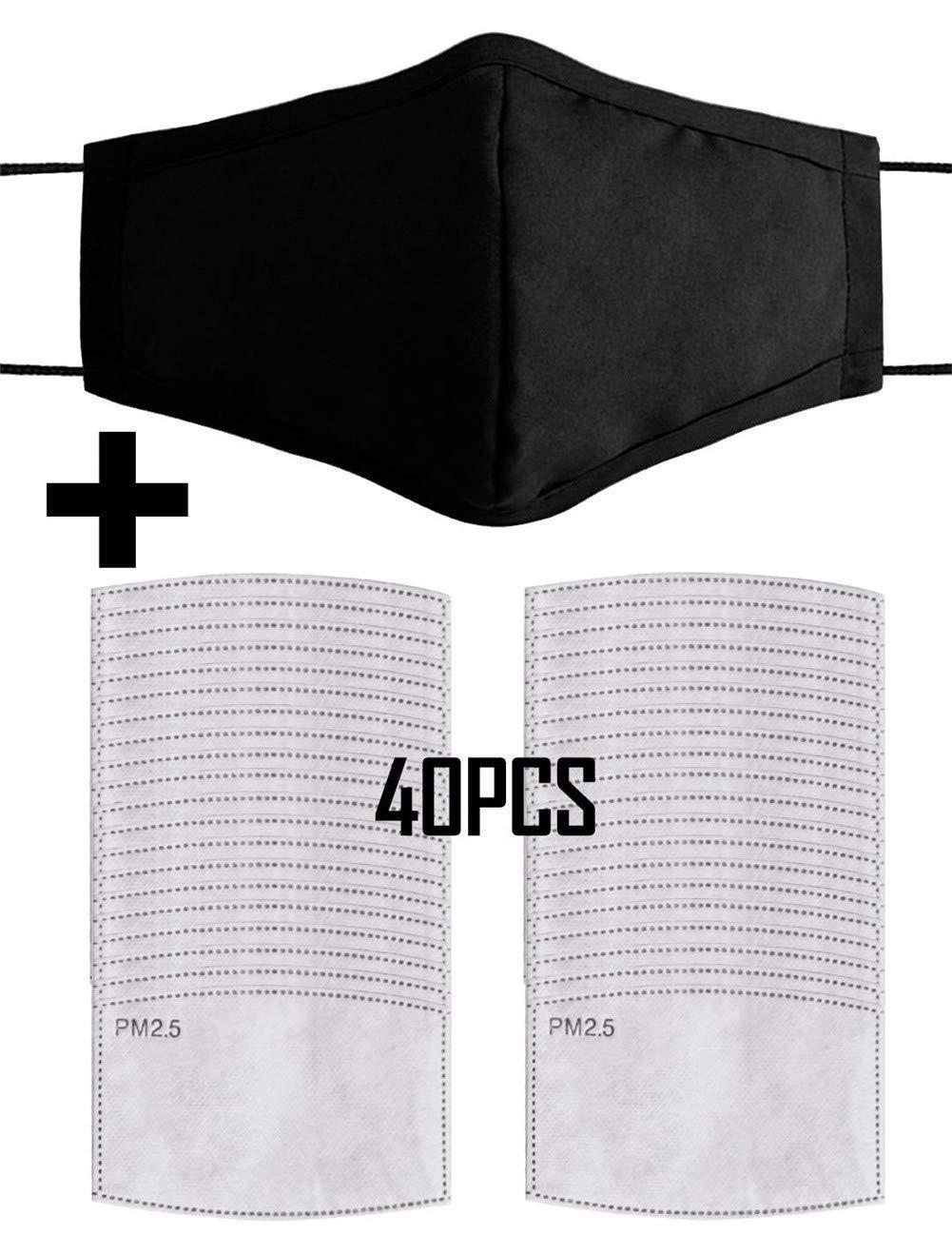 40PCS Reutilizable PM2.5 Polvo máscara Protectora Lavable Anti Haze máscara de Polvo Fino Máscara