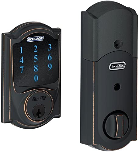 Schlage BE469ZPVCAM716 Aged Bronze Connect Camelot Touchscreen