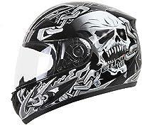 casque moto intégral tête de mort 1