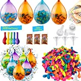 Instant Water Balloons, 300 Self-Sealing Water Balloons and 10000 Water Beads, Super Water Balloon Sensory Toys for Splash Fun Kids and Adults Party