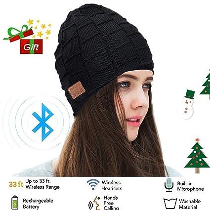 dd11ed4552b Amazon.com  Wireless Bluetooth Beanie Headset Hat