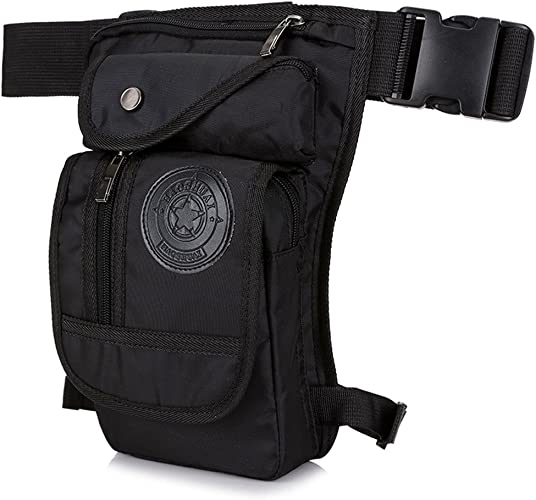 Canvas Sports Racing Drop Leg Bag Waist Bag for Man Sports Travel Running Hiking