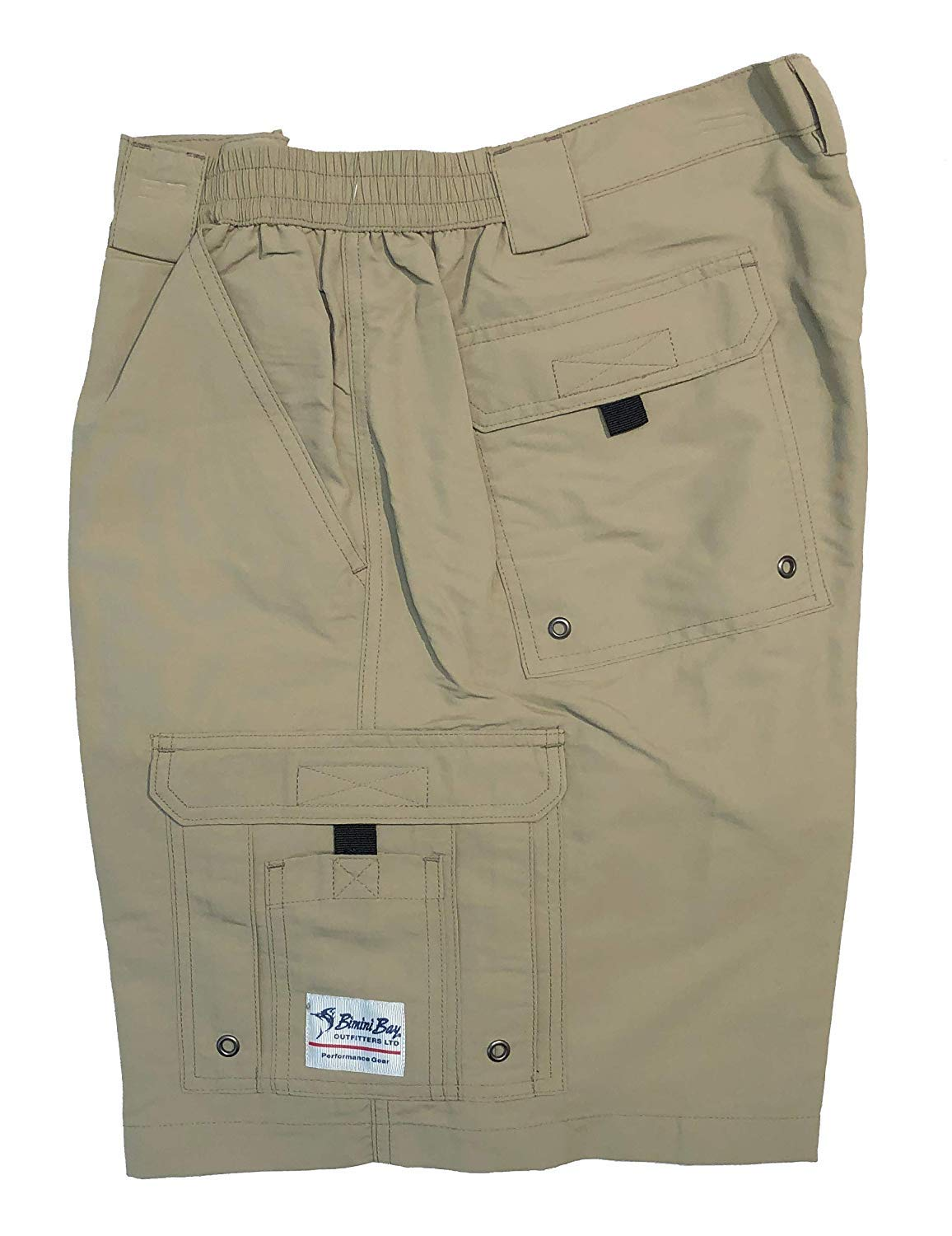 Bimini Bay Outfitters Boca Grande Short II Bloodguard, Color: Khaki, Size: 34 (31710-K-34) by Bimini Bay Outfitters