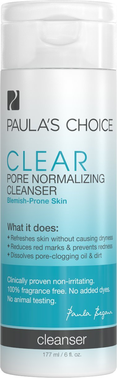 Makeup Remover & CLEAR Skin Pore Cleanser | Tough on Blackheads & Blemishes | Anti Blemish Cream in Gel Form | Removes Excess Oil & Skin Refreshing | For All Skin Types - 177 ml /6 fl. oz. Paula' s Choice