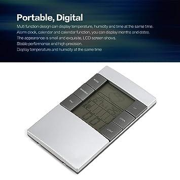Dailyinshop Reloj Digital de Temperatura y Humedad para Estaciones meteorológicas LCD (Color: Plateado): Amazon.es: Juguetes y juegos