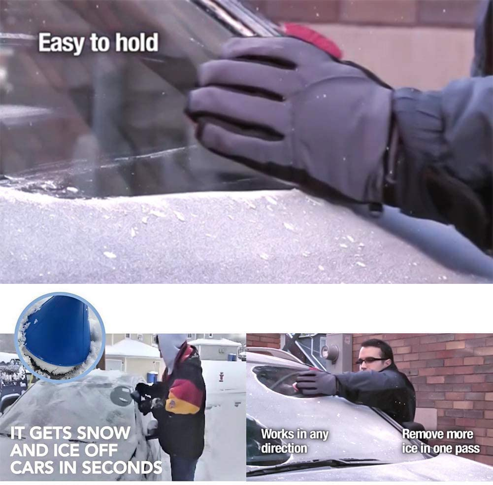 Blue/&Green Ice Scraper for Car//Larger Coverage Diameter//Magical Car Snow Scraper Funnel Cone Round Removal Tool//Easily Remove The Snow Ice from The Rear View Mirror /& Windshield /& Windows