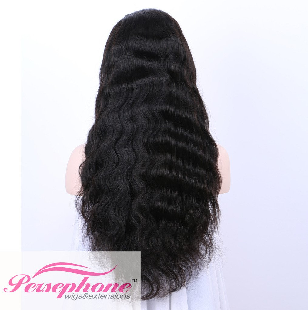 Persephone Glueless 200% Extra Heavy Density Body Wave 360 Lace Frontal Wigs Human Hair with Baby Hair Brazilian Remy Hair Lace Wig with Natural Hairline for Women Natural Color 20inches by Persephone (Image #3)