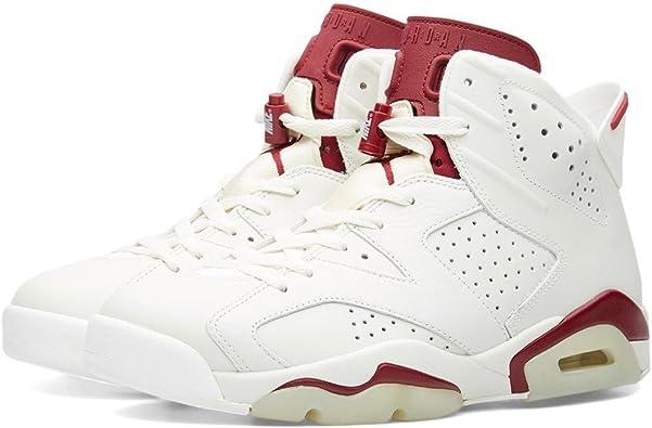 white and burgundy jordan 6