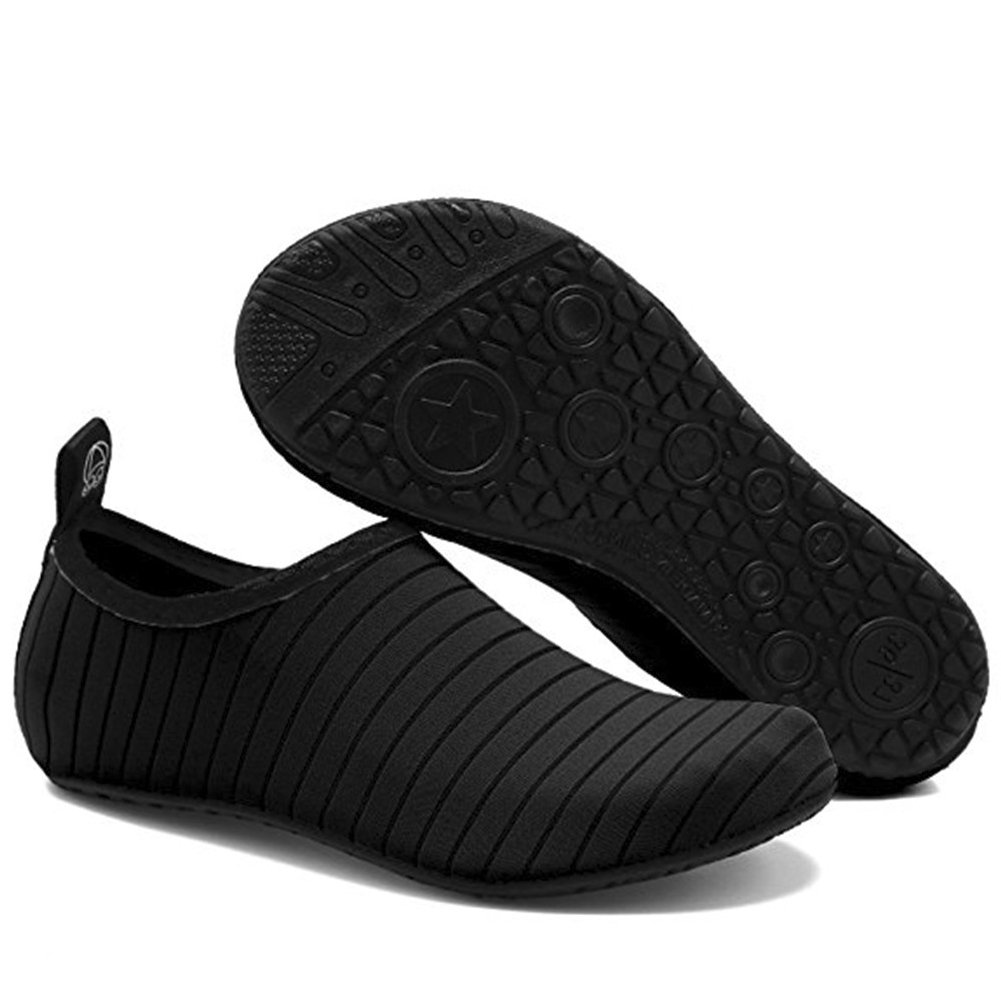Men and Women Slip-On Water Shoes Lightweight Barefoot Quick-Dry Aqua Yoga Socks For Outdoor Beach Sports(Black,36/37EU) by YALOX (Image #4)