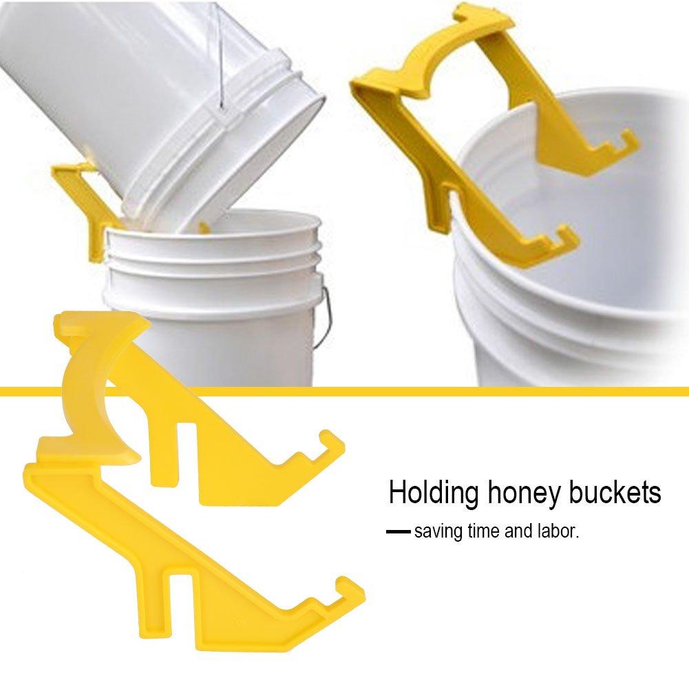 Honey Bucket Holder Plastic Bee Bucket Rack Frame Grip Holder Beekeeping Beekeepers Tool