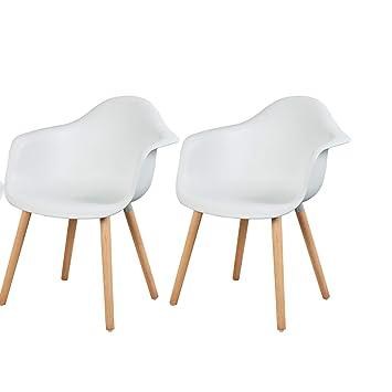 Sedie X Cucine Moderne.Esituro 2 X Sedie Sala Da Pranzo In Plastica Per Cucina