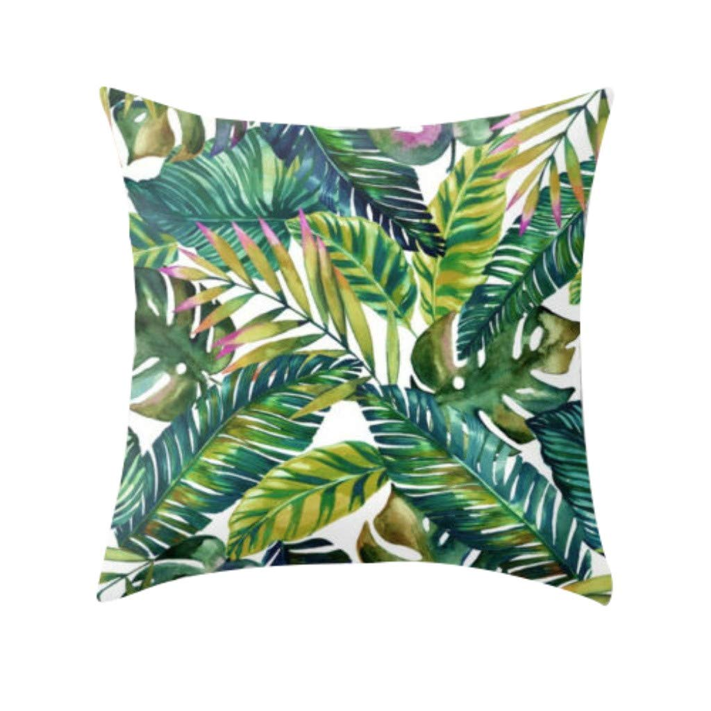 YAYUMI Tropical Plant Polyester Pillowcase Sofa Throwing pad Set Home Decoration,Pillowcase for Bed Car Office Home Decor