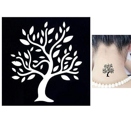 Disegno Stencil Albero Della Vita.Body Stencil Per Tatuaggio Tattoo Temporaneo Colori Henne