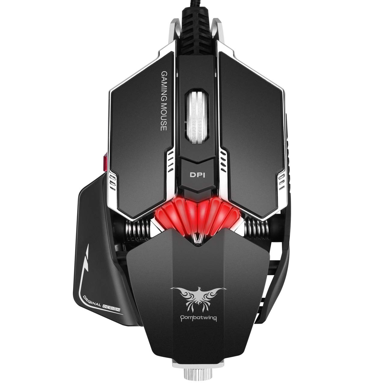 Mouse Gamer : Combatwing RGB Con cable con 8 Program. Botone