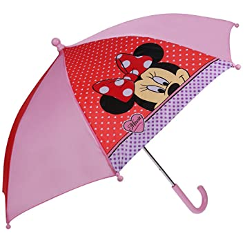 Vadobag Disney Minnie Mouse - Paraguas de los Niños - De Color Rosa