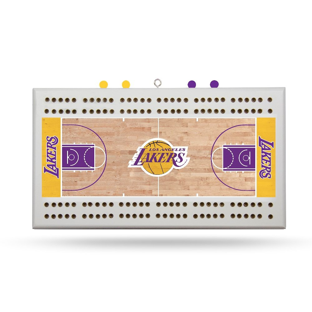 Rico Los Angeles Lakers NBA Licensed 2 Track Cribbage Board
