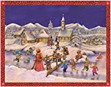 Pinnacle Peak Trading Company Children Ice Skating in the Snow German Christmas Advent Calendar Countdown