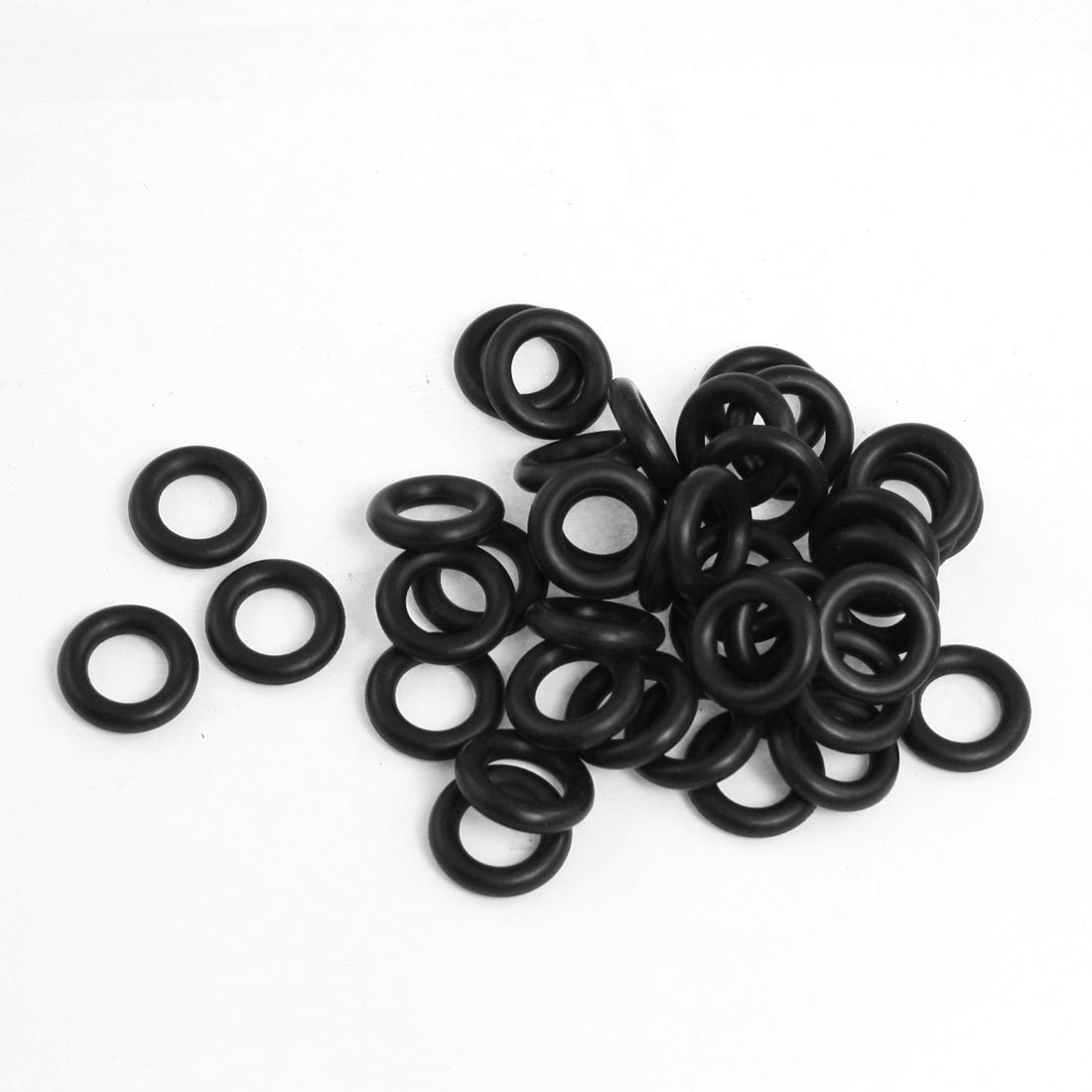 uxcell 50Pcs Black 16mm x 1mm Nitrile Rubber O Ring NBR Oil Sealing Grommets