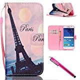 Galaxy S6 Case, Galaxy S6 Wallet Case, Firefish [Kickstand] Design [Card/Cash Slots] Premium PU Leather Wallet Flip Cover with Wrist Strap for Samsung Galaxy S6-Tower