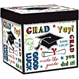 "Graduation Party Gift Box, 1 Pieces, Made from Cardboard, Any theme, 7 1/2""H x 7 1/2""W x 7 1/2""D by Amscan"