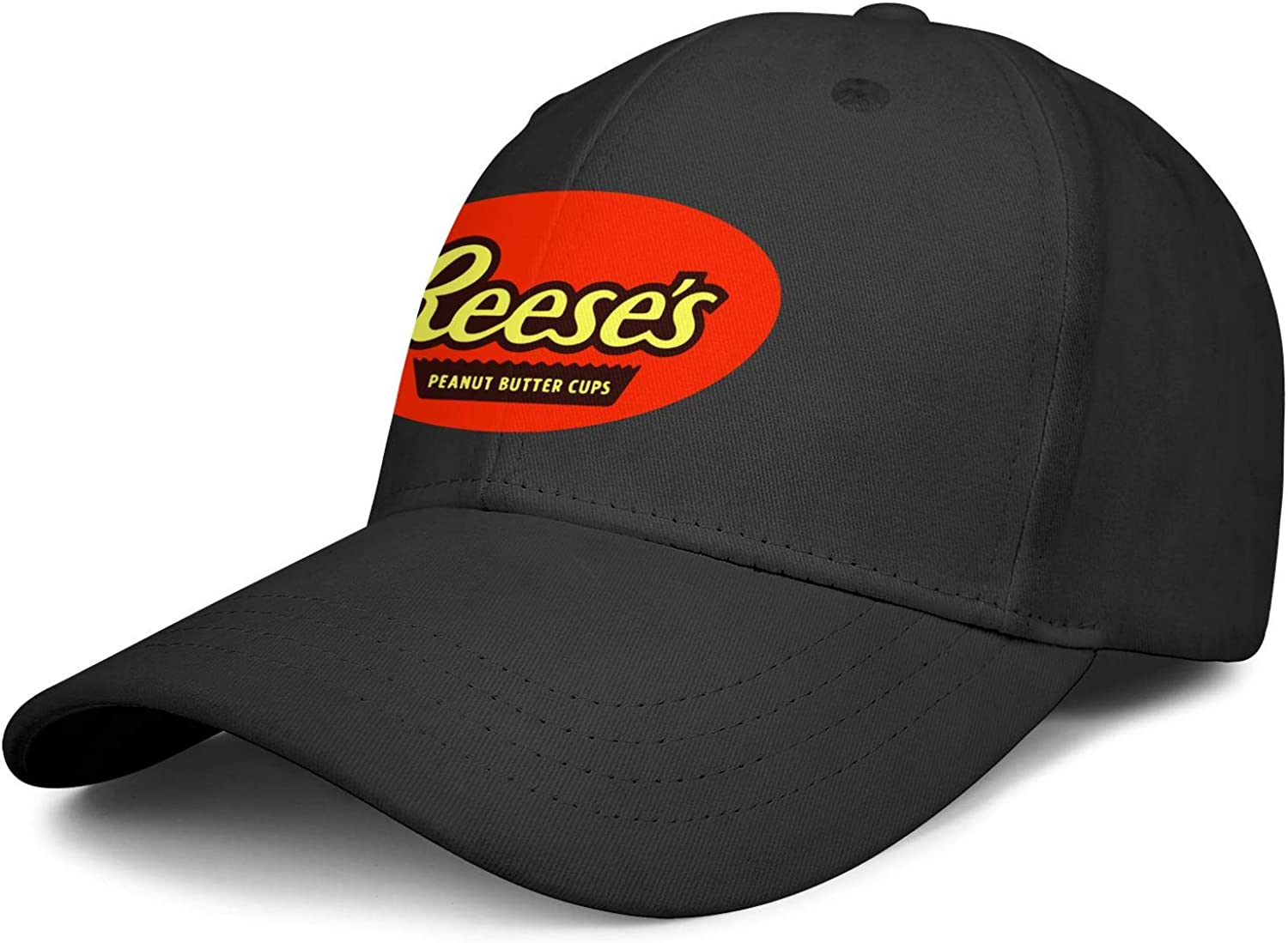 Unisex Stylish Reese-Milk-Chocolate-Peanut-Butter-Cup Baseball Cap Fitted Logo All Cotton Trucker Cap