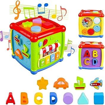 Música Cubo de Actividades, 6 en 1 Incluye Caja de música Bloques ...