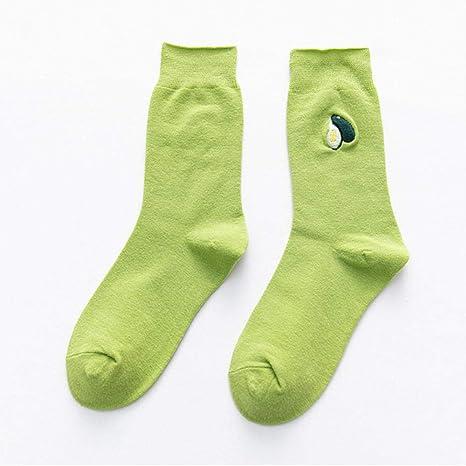 3 Pares de Calcetines Casuales de algodón Verde Blanco y Negro de ...