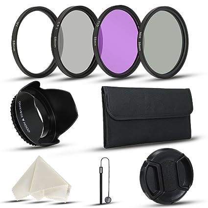 58 mm filtro de lente de la cámara kits para cámara réflex digital ...