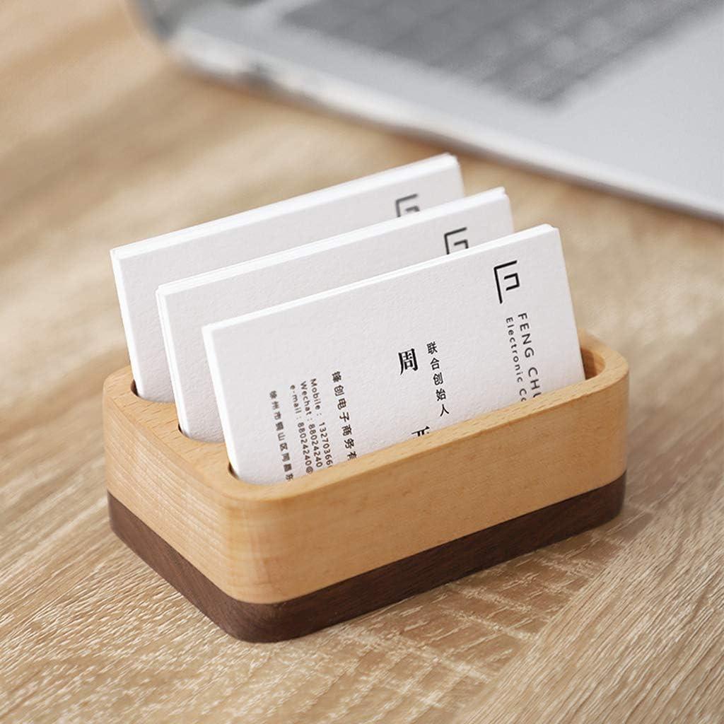 support de cartes de cr/édit organiseur de cartes de visite support de pr/ésentation de cartes de v/œux Porte-cartes de visite Sqiuxia en bois pour cartes de visite 3 types en option 03