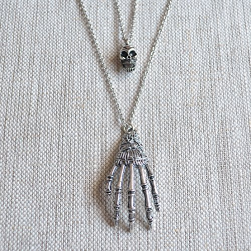 Skull and Zombie Necklaces for Halloween -