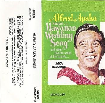 Sings Hawaiian Wedding Song