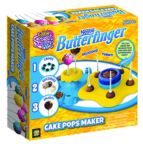 (Nestle Cake Pops Butterfinger Maker Toy Baking Activity Set Using Microwave Baking - DIY Make Your Own Delicious Treat - Edible Sweet Art )
