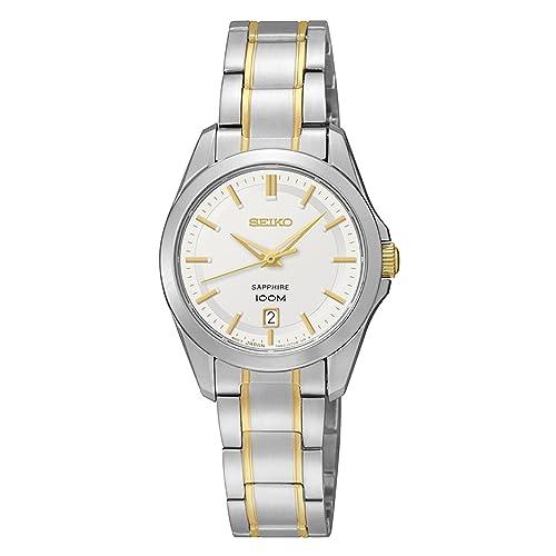 Seiko Reloj Mujer Clásico Bicolor SXDF59P1: Amazon.es: Joyería