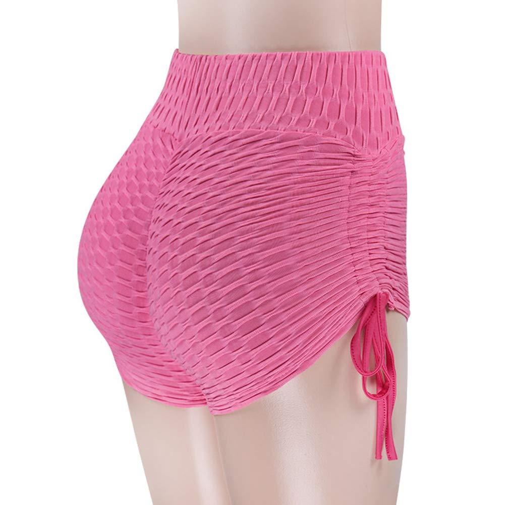 Totoci Womens Yoga Pants Stretchy Ruched Butt Lifting Workout Running Shorts with High Waisted Tummy Control