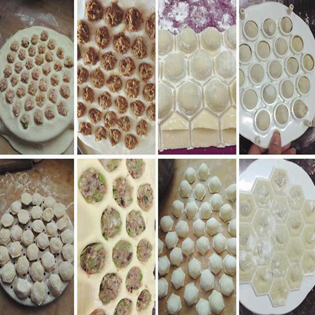 Redcolourful 19 Agujeros Easy Dumpling Maker Prensa de Masa Herramienta de Molde Herramientas de Cocina Gadget Pasteler/ía