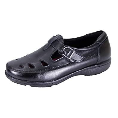 44f5e1d6470 24 Hour Comfort Annette (LC09049) Women Extra Wide Width Comfort Loafer  Black 5