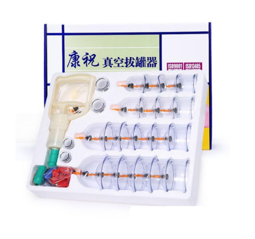 Vakuum-Schröpfen 24 Akupunktur-Dosen Haushalt Absaugung Typ nicht-Glas Schröpfen voller Gesundheit Massage
