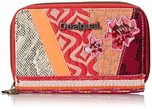 Desigual Double Zip Small Woven Medium Wallet Beige One Size