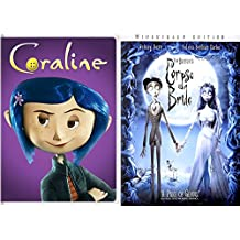 Tim Burton's Corpse Bride & Coraline DVD Animated Film Bundle 2-pack