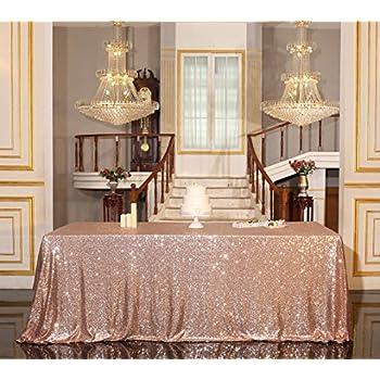 PartyDelight Sequin Tablecloth, Wedding, Banquet, Rectangular, 90