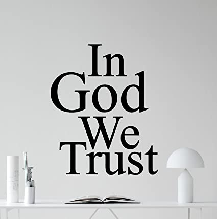 In god we trust wall decal in god we trust vinyl sticker living room wall decor