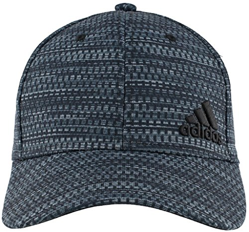adidas Men's Release Stretch Fit Structured Cap, Black Strata Print/White, Small/Medium