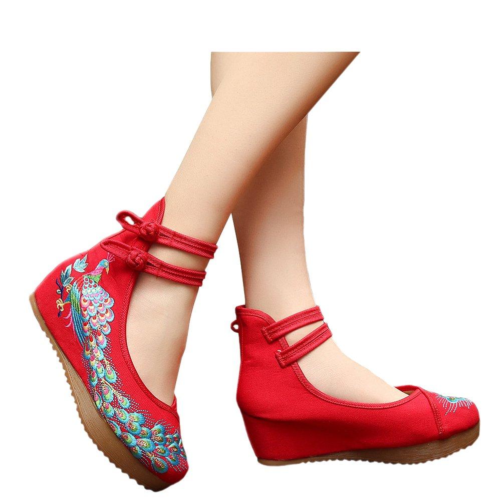 Femmes Paillettes Paon Brodé Solide Solide Chaussures de Danse Occasionnels