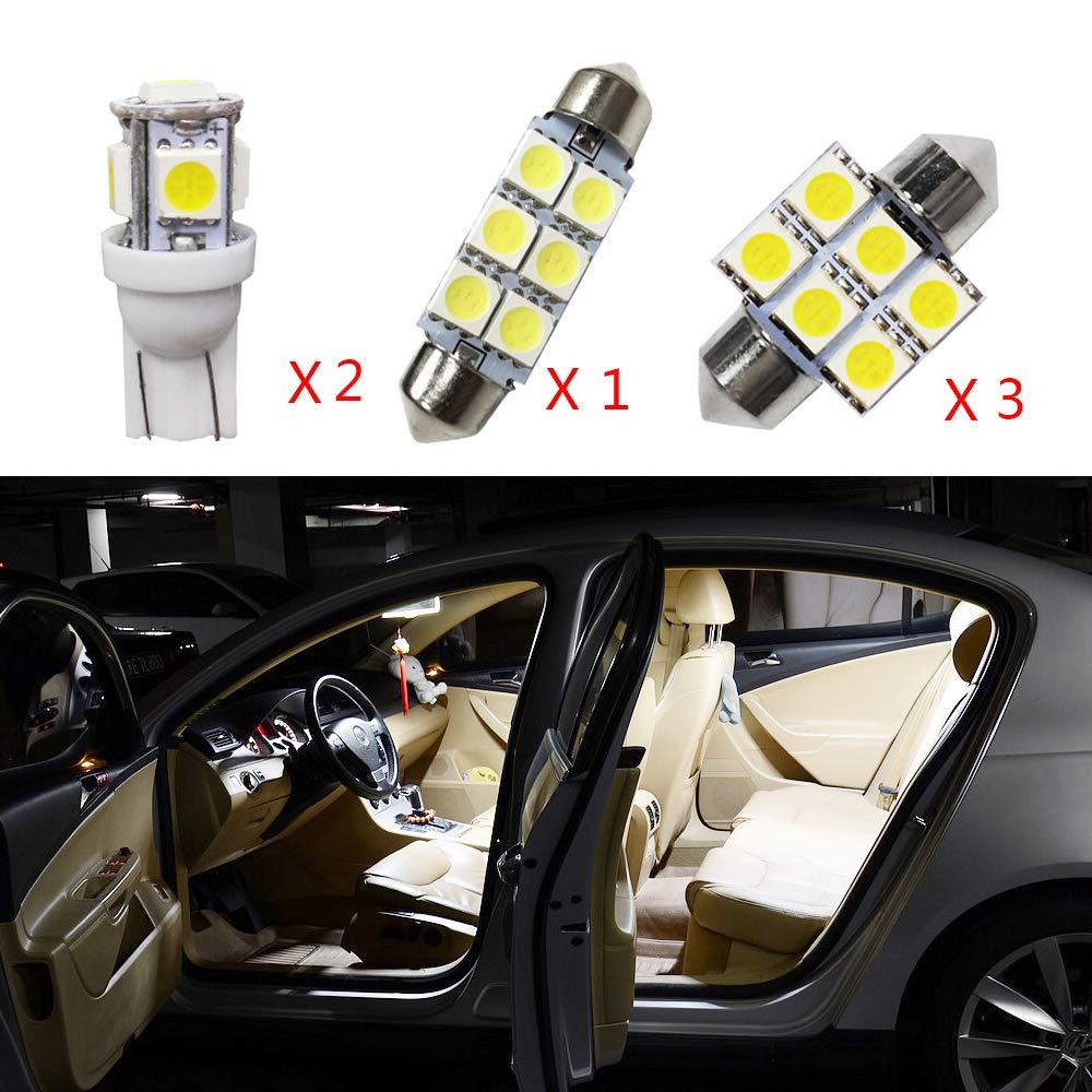 12 V Weiß Super Helle LED Auto Innendekoration Licht Lampen Set Für Sorento 2009-2013 Ersetzen für Halogen Oder Hid Lampen 6 stücke Cobear