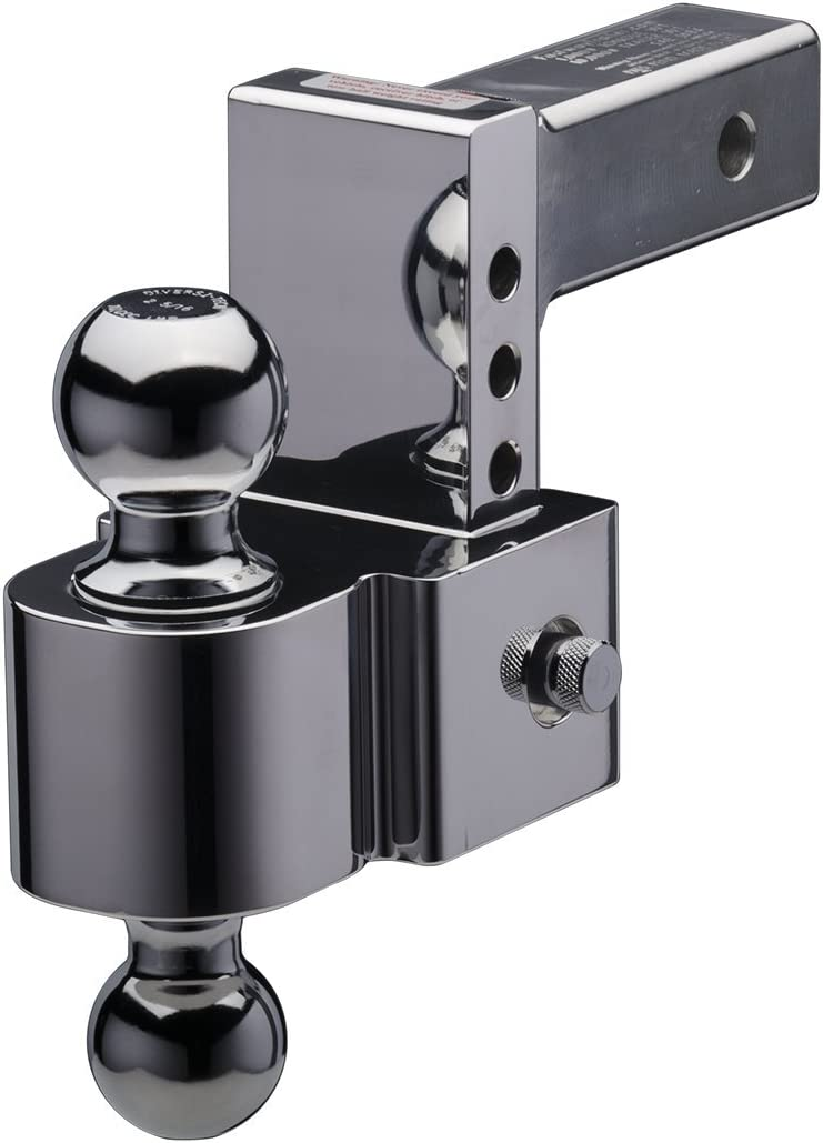 and Chrome Plated Balls 2 Inch Shank Fastway FLASH 42-00-2400 E Series Adjustable Aluminum Ball Mount with 4 Inch Drop