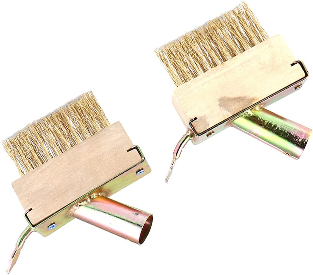Happyyami 2PCS Weeding Wire Brush Tools Patio Weed Brush Head Set Replacement Gardening Weeding Tool Weed Remover for Outdoor Patio, Paving, Sideway, Garden Path and Driveway